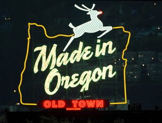 Made In Oregon sign