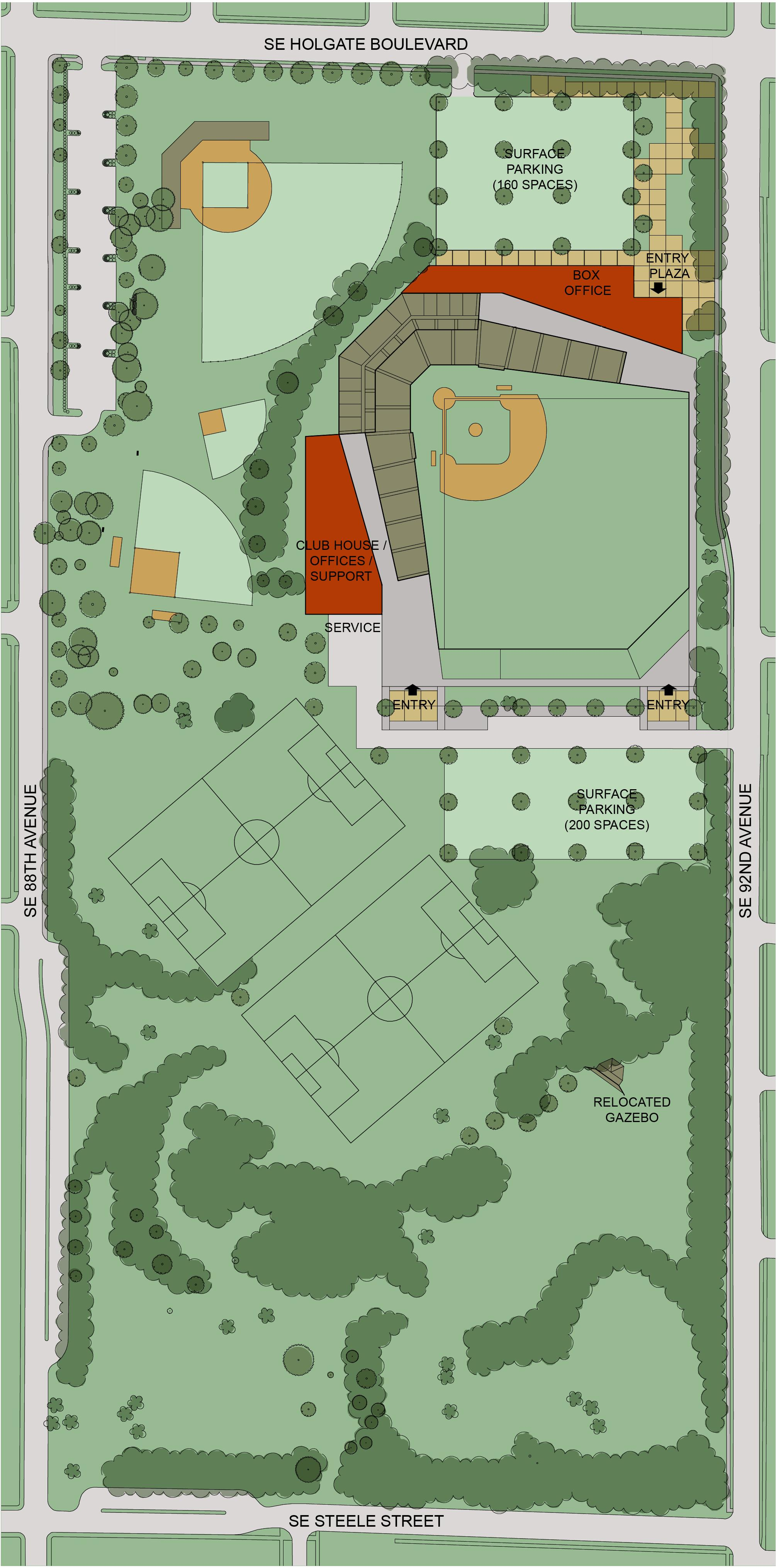 Lents Park Stadium Site Plan