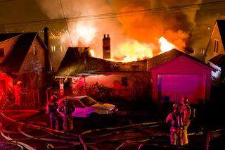 Linnton fire overhead